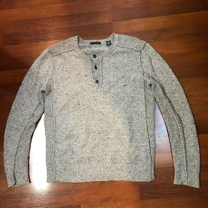 Gray button up sweater